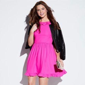 Kate Spade Hot Pink Ruffle Mini Dress